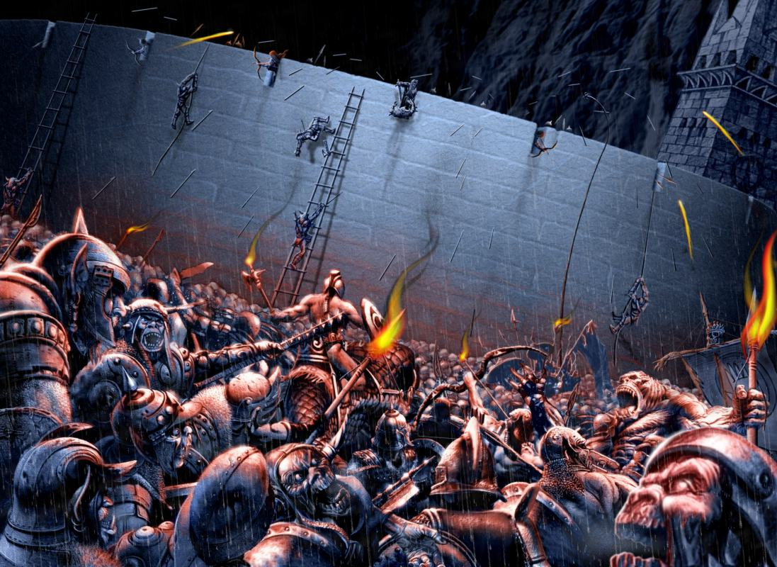 La última defensa de la muralla Kaiu OICAtaqueAbismoHelm